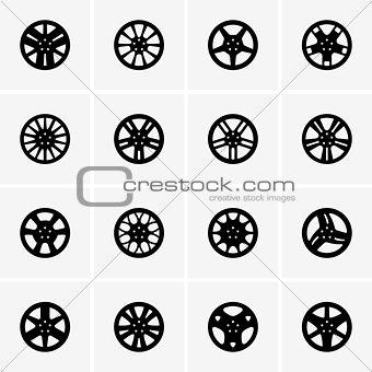Car rim icons