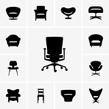 Moden chair icons