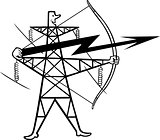 Electric power transmission support