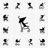 Baby Carriage icons