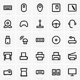 Computer peripheral icons