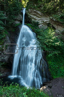 Waterfall in the forest, Cavalese - Italy