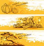 Yellow Halloween  banners