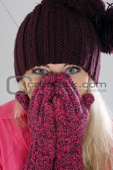 Portrait of beautiful winter girl