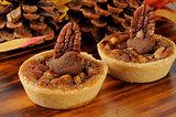 Gourmet pecan pie dessert tarts