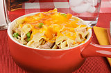 Tuna casserole with cheese
