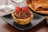 Gourmet chocolate mousse dessert cup