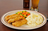 Beer battered chicken strips