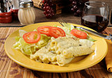 Creamy spinach rollatini