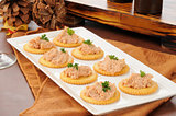 Deviled ham canapes