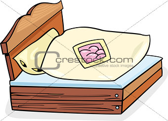bed furniture cartoon illustration