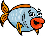 funny fish cartoon illustration