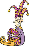 jester clip art cartoon illustration