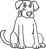 labrador retriever cartoon for coloring book