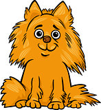 pomeranian dog cartoon illustration
