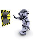 Robot pushing a button