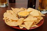 Bar food, nachos and beer