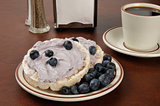Blueberry cream cheese on rice cakes