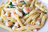 Prawns Spinach and Basil Penne Pasta