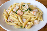 Prawns Spinach Basil Penne Pasta