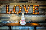 Wedding Cake with Love