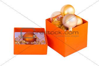 box of golden  balls