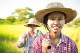 Myanmar Asian traditional farmer