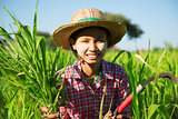 Asian traditional farmer