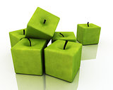 Square Green Apples.