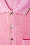 Close up new men's pink Polo T-shirt