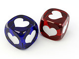 Cubes with heart