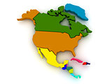 Map of northern america