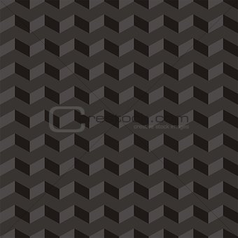Aztec Chevron dark vector seamless pattern, texture or background with black and grey zigzag motif