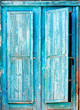 old blue wooden shutters