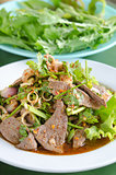 liver salad and vegetable