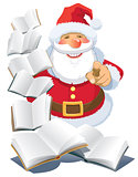 Santa Claus with books