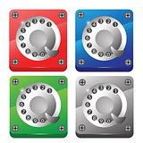 rotary phone dial icons