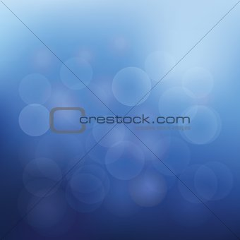 Abstract background of christmas blue lights