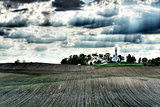 Chapel and corn fields