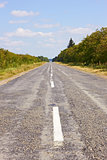 Rural asphalted road