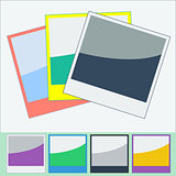 Photo Frames Flat Style. Vector Illustration