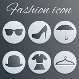 Fashion realistic button set
