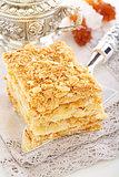 Classic cake Napoleon.