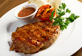 grilled t-bone steak