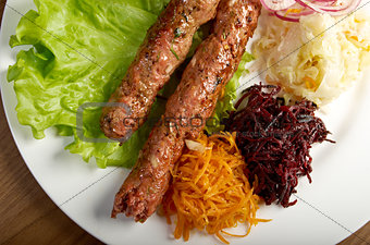caucasian Luleh kebab