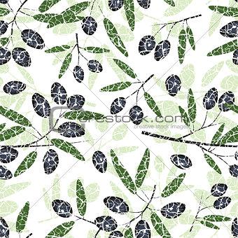 Olive Seamless Pattern