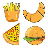 fast food. Vector illustration.