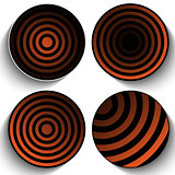 Halloween Button Icon Stripe