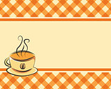 Checkered coffee vector background