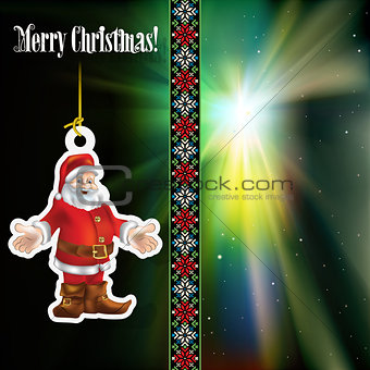 Abstract celebration background with Santa Claus